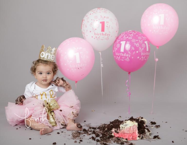 First Birthday Cake Photo Shoot